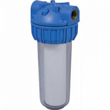 Фильтр магистральный для холодной воды (прозрачный корпус 10) вход 1