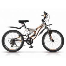 """Велосипед STELS Pilot 270 20"""" 13 белый/оранжевый"""